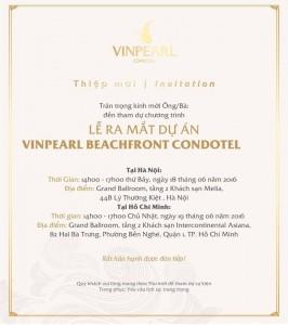 Thiệt mời tham dự mở bán Vinhomes Beach Front Condotel