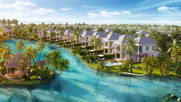 biet thu bien Vinpearl Long Beach villas huong ho